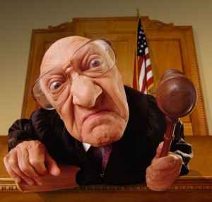 white angry judge