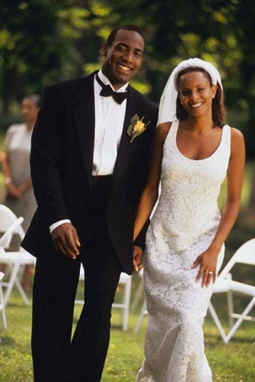 Black couple getting married