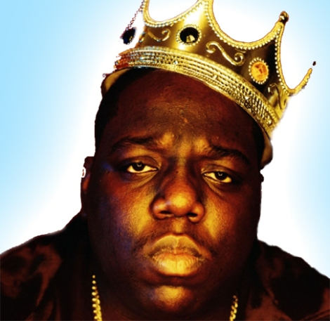 Notorious B.I.G. wearing crown