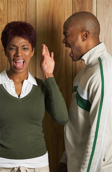 Black couple splitting i[