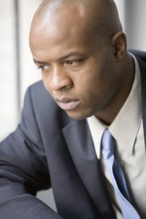 Introspective Black Man