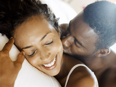 black-couple intimate