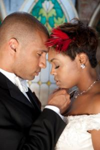 black couple marriage