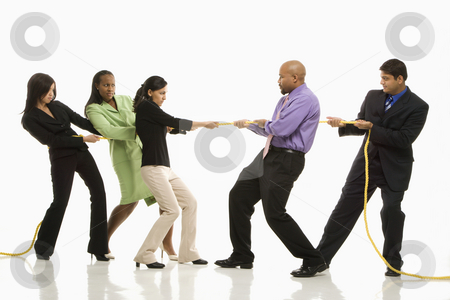 Men against women (tug-o-war)