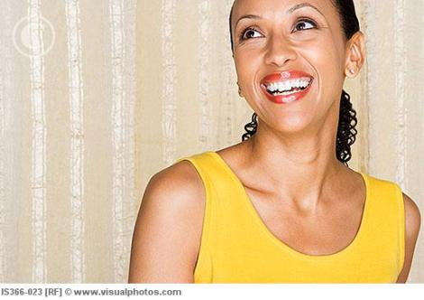 African american woman smiling with purpose/dream