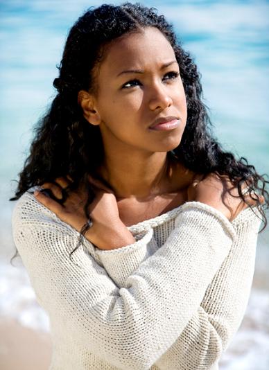 pondering black woman