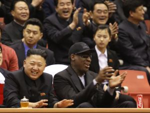 Dennis Rodman and Kim Jong Un
