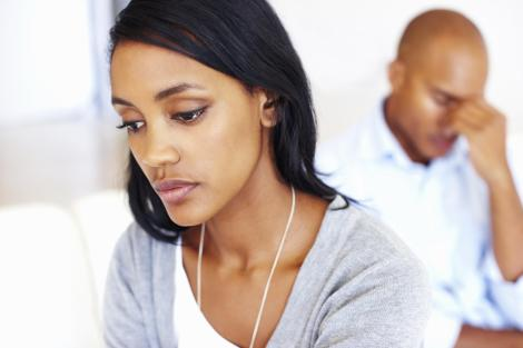 Black woman neglected in relationship