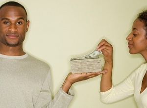 black couple and materialism