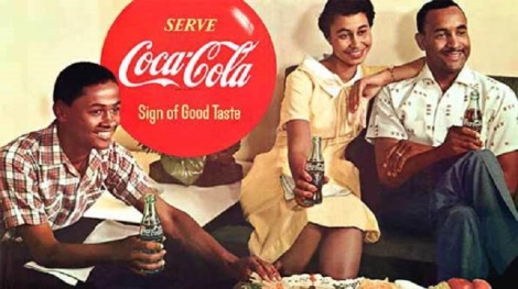 coca cola black family ad 1950s