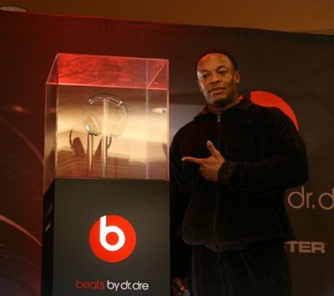 dr. dre standing with beats by dre